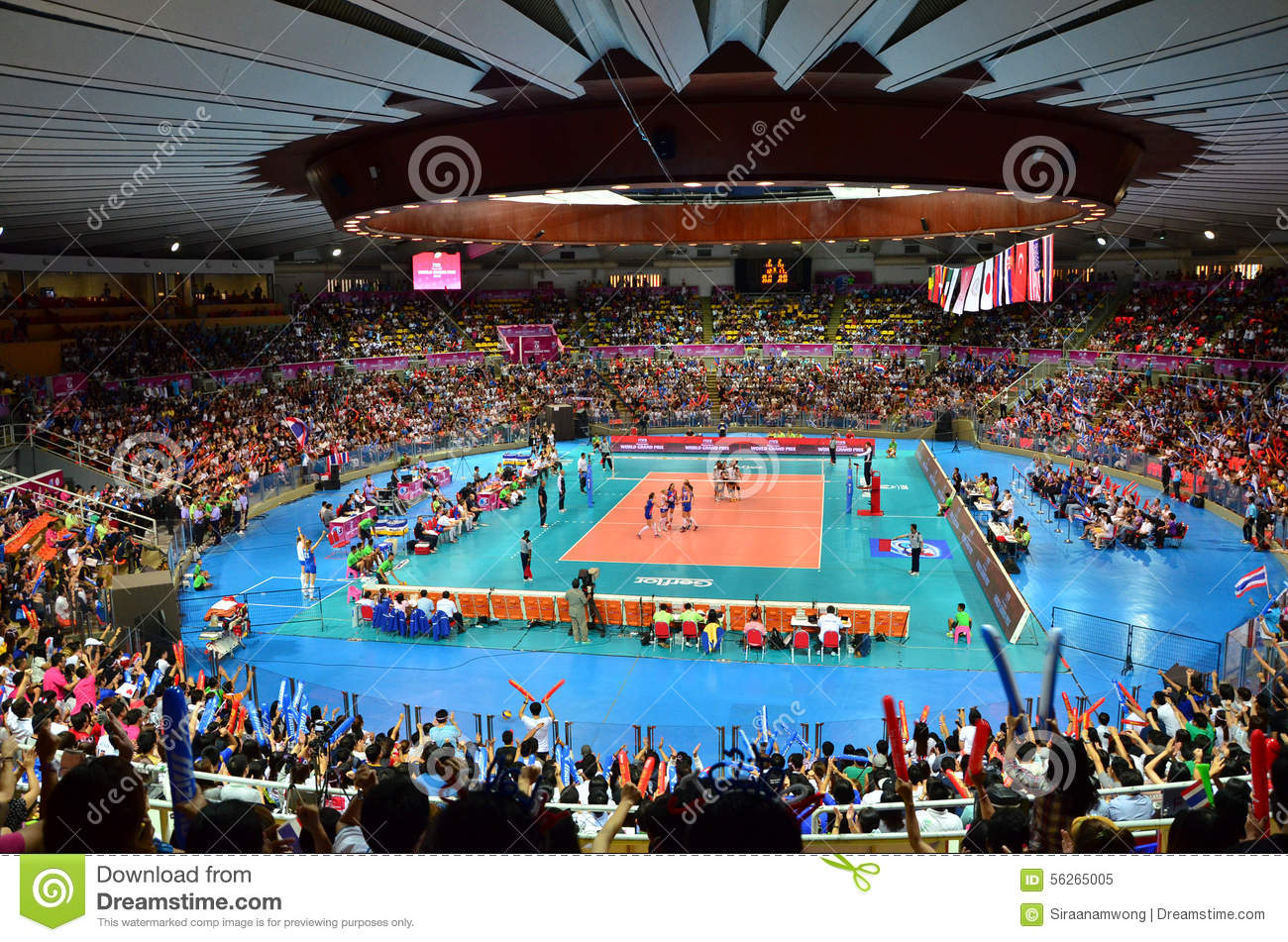 Fivb World Grand Prix Pool H Kicks Off At Hua Mark Indoor Stadium In Bangkok